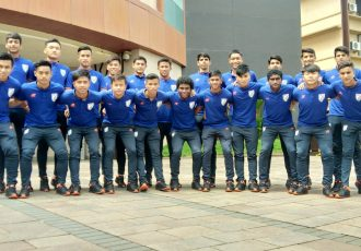 The India U-15 national team. (Photo courtesy: AIFF Media)