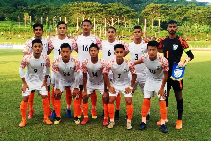 The India U-19 national team. (Photo courtesy: AIFF Media)