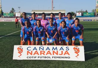 The Indian Women's national team at the 2019 COTIF Cup in Spain. (Photo courtesy: AIFF Media)