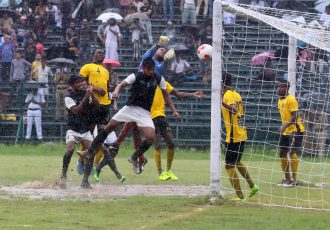 2019/20 Calcutta Premier Division A match action between Mohammedan Sporting Club and Aryan Club. (Photo courtesy: Mohammedan Sporting Club)