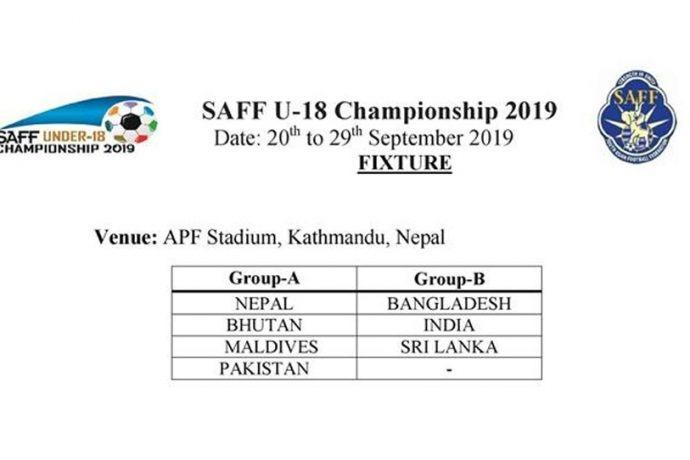 SAFF U-18 Championship 2019 - Groups