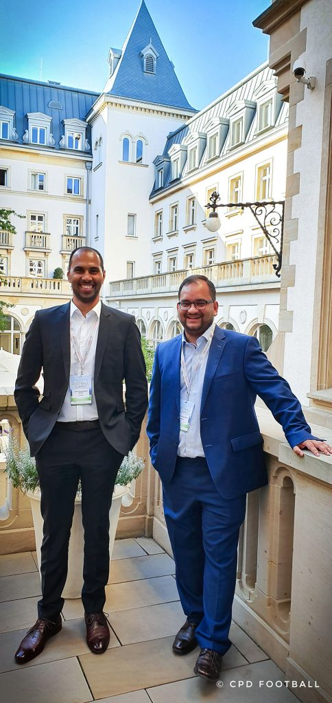 5th International Frankfurt Football Summit 2019: Chris Punnakkattu Daniel and Arunava Chaudhuri. (© CPD Football)