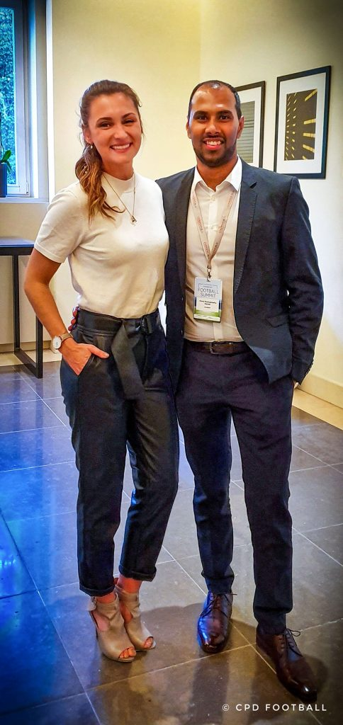 5th International Frankfurt Football Summit 2019: Chris Punnakkattu Daniel and Lisa Ramuschkat. (© CPD Football)