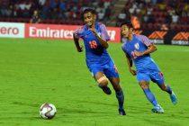 Indian national team forward Ashique Kuruniyan. (Photo courtesy: AIFF Media)