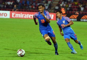 Indian national team forward Ashique Kuruniyan. (Photo courtesy: AIFF Media)