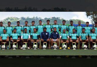 Participants of the AIFF Grassroots Leaders Course at the Rajiv Gandhi Stadium in Aizawl, Mizoram. (Photo courtesy: AIFF Media)