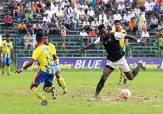 Calcutta Premier Division 'A' match action between Mohammedan Sporting Club and Kalighat Milan Sangha. (Photo courtesy: Mohammedan Sporting Club)