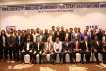 Participants of the FIFA Capacity Building Workshop for State Associations (India). (Photo courtesy: AIFF Media)