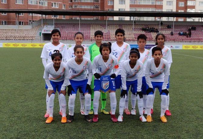 India Sub-Junior Girls national team. (Photo courtesy: AIFF Media)