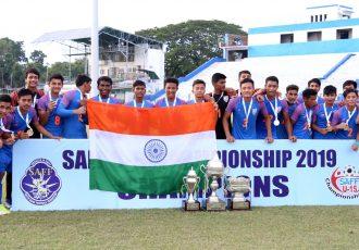 SAFF U-15 Championship 2019 winners India U-15. (Photo courtesy: AIFF Media)
