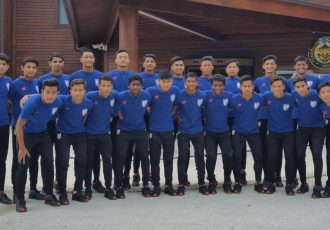 The India U-16 national team squad for the AFC U-16 Championship Qualifiers. (Photo courtesy: AIFF Media)