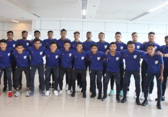 The India U-18 national team squad for the SAFF U-18 Championship 2019. (Photo courtesy: AIFF Media)