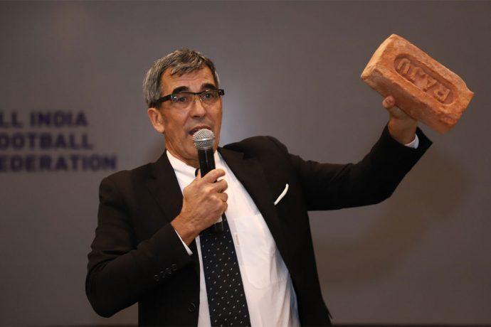All India Football Federation (AIFF) Technical Director Isac Doru during the FIFA Capacity Building Workshop in New Delhi. (Photo courtesy: AIFF Media)