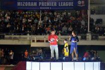 Jeje Lalpekhlua kicking off the Mizoram Premier League (MPL) Season 8 at Lammual Stadium, Aizawl. (Photo courtesy: Mizoram Football Association)