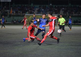 Mizoram Premier League Season 8 opening match between Electric Veng FC and FC Venghnuai at the Lammual Stadium, Aizawl. (Photo courtesy: Mizoram Football Association)