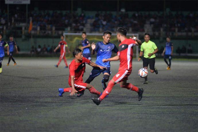 Mizoram Premier League Season 8 opening match between Electric Veng FC and FC Venghnuai at the Lammual Stadium, Aizawl. (Photo courtesy: Mizoram Football Association)