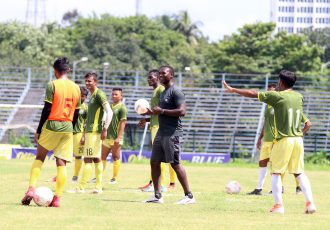 Mohammedan Sporting Club training session under head coach Saheed Sunkanmi Ramon. (Photo courtesy: Mohammedan Sporting Club)