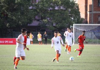 SAFF U-18 Championship 2019 match action between the India U-18 national team and Bangladesh. (Photo courtesy: AIFF Media)
