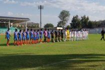 The Women's national team of India and Uzbekistan ahead of their friendly match in Tashkent, Uzbekistan. (Photo courtesy: AIFF Media)