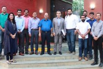 AIFF League Committee members at the sidelines of their meeting at the AIFF Football House in New Delhi. (Photo courtesy: AIFF Media)