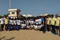 Chennaiyin FC conducted a FIT India Plogging Run in Chennai, Kanchipuram and Coimbatore. (Photo courtesy: Chennaiyin FC)