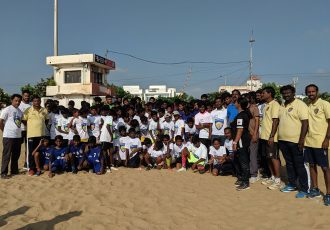 Chennaiyin FC conducted a FIT India Plogging Run in Chennai, Kanchipuram and Coimbatore. (Photo courtesy: Chennaiyin FC)