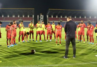 The Indian national team squad. (Photo courtesy: AIFF Media)