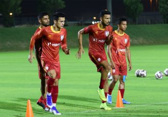 Indian national team training sessin. (Photo courtesy: AIFF Media)