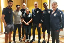 Indian MNT head coach Igor Štimac and India WNT head coach Maymol Rocky with various other India youth national team coaches. (Photo courtesy: AIFF Media)