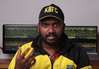 Manjappada TV post-match analysis with Athul M. Krishna. (Photo courtesy: Manjappada TV)