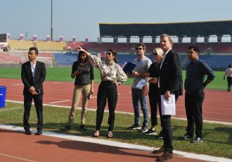 FIFA-LOC Delegation inspects Indira Gandhi Athletic International Stadium in Guwahati for FIFA U-17 Women's World Cup India 2020. (Photo courtesy: FIFA U-17 Women's World Cup India 2020 LOC)
