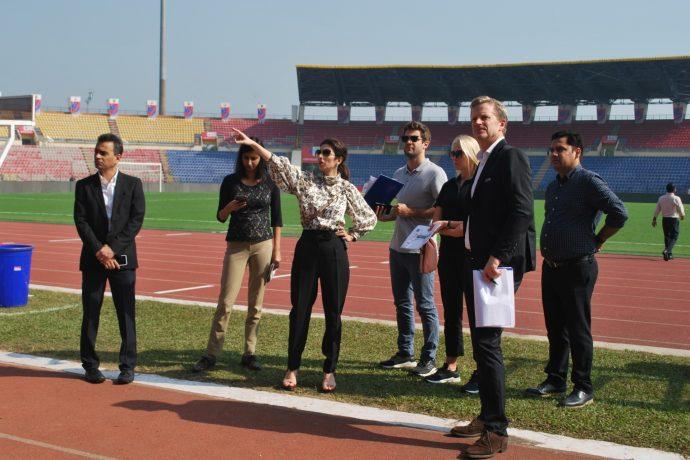 FIFA-LOC Delegation inspects Indira Gandhi Athletic International Stadium in Guwahati for FIFA U-17 Women's World Cup India 2020. (Photo courtesy: FIFA U-17 Women's World Cup India 2020 LOC)