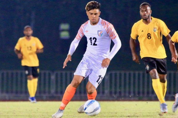 India U-19 MNT international Gurkirat Singh. (Photo courtesy: AIFF Media)
