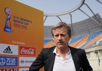 Oliver Vogt, Project Lead of the FIFA U-17 Women's World Cup India 2020, at the TransStadia Arena in Ahmedabad. (Photo courtesy: FIFA U-17 Women's World Cup India 2020 LOC)