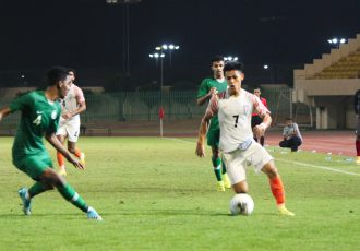 AFC U-19 Championship qualifier between the India U-19 national team and Saudi Arabia. (Photo courtesy: AIFF Media)