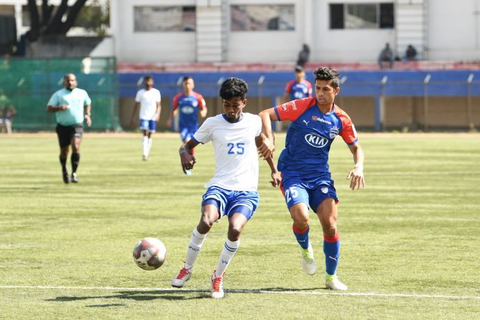 BDFA Super Division League match action from the clash between Bengaluru FC 'B' and Students Union, at the Bengaluru Football Stadium. (Photo courtesy: Bengaluru FC)