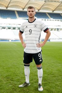Timo Werner wearing Germany's new home kit by adidas for the UEFA EURO 2020. (Photo courtesy: adidas)