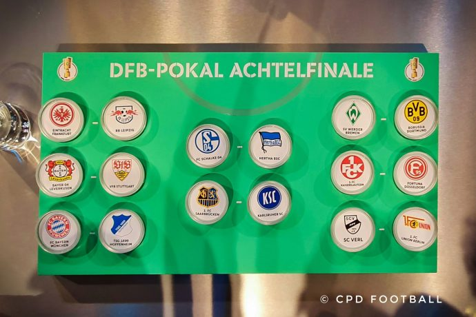 DFB-Pokal 2019/20 Round of 16 fixtures. (© CPD Football)