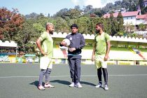 Mohammedan Sporting Club technical director Dipendu Biswas during a training session. (Photo courtesy: Mohammedan Sporting Club)