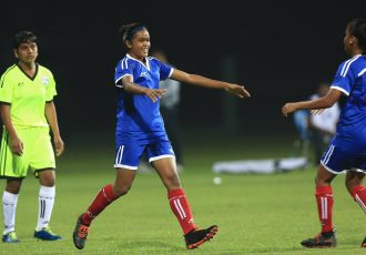 Hero U-17 Women's Championship match action between the Tigresses and Cheetahs. (Photo courtesy: AIFF Media)
