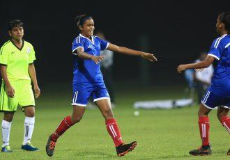 Hero U-17 Women's Championship match action between the Tigresses and Cheetahs. (Photo courtesy: AIFF Media)