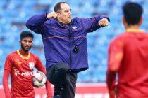 Indian national team head coach Igor Štimac during a training session. (Photo courtesy: AIFF Media)