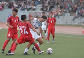 Hero I-League 2019/20 match action between Aizawl FC and Mohun Bagan AC at the Rajiv Gandhi Stadium in Aizawl. (Photo courtesy: I-League Media)