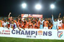 Hero I-League 2018/19 champions Chennai City FC. (Photo courtesy: I-League Media)