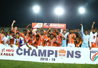 Hero I-League 2018/19 champions Chennai City FC. (Photo courtesy: I-League Media)