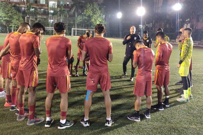 Indian national team training session in New Delhi. (Photo courtesy: AIFF Media)