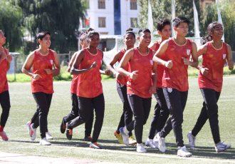 India U-17 Women's national team training session. (Photo courtesy: AIFF Media)