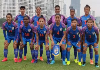 The Indian Women's national team ahead of their friendly match against Vietnam on November 3, 2019. (Photo courtesy: AIFF Media)