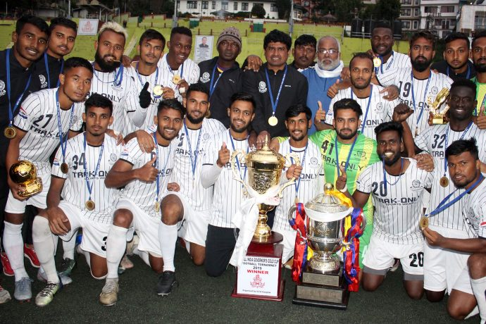 Mohammedan Sporting Club players and officials celebrating their Sikkim Governor's Gold Cup title. (Photo courtesy: Mohammedan Sporting Club)