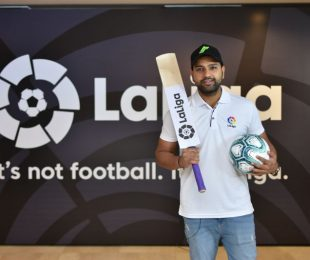 Cricket star Rohit Sharma, LaLiga's first ever brand ambassador in India. (Photo courtesy: LaLiga)